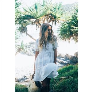 Spell & the Gypsy Peasant Girl Throw on Mini Dress